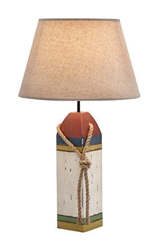 12-wood-buoy-nautical-table-lamp Nautical Themed Lamps