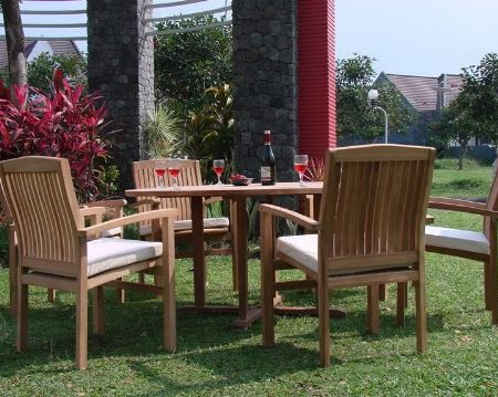 12b-7pc-grade-a-round-60-teak-dining-set-450x359 The Ultimate Guide to Outdoor Teak Furniture
