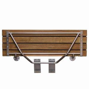 Modern Folding Built-In Teak Shower Bench