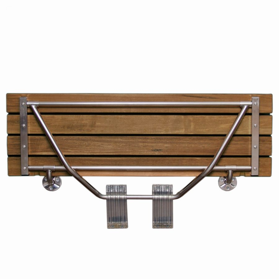 Teak Shower Stool Minimalist Teak Shower Bench With