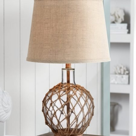 12b-rope-around-clear-glass-ball-table-lamp-450x450 Nautical Themed Lamps
