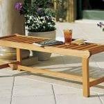 Luxurious Grade-A Teak Backless Bench
