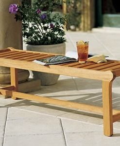 Luxurious Grade-A Teak Backless Bench