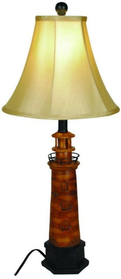 13-nautical-brown-lighthouse-table-lamp Nautical Themed Lamps