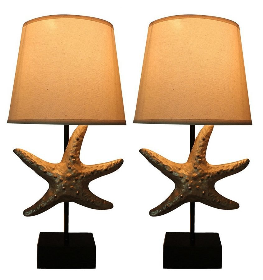 Urbanest Dusty Silver Starfish Table Lamps