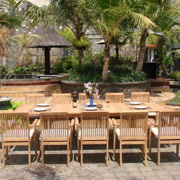 13 PC Grade A Teak Wood Patio Dining Set