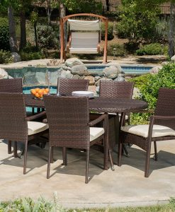 14-lancaster-outdoor-7pc-brown-wicker-dining-set-247x300 The Best Wicker Dining Sets You Can Buy