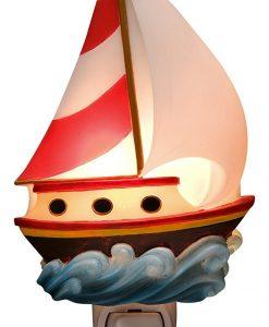 Toy Sailboat Nautical Kids Night Light