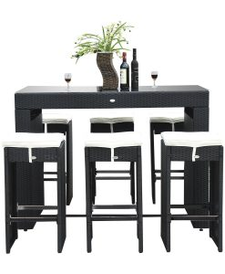 14b-outsunny-7pc-black-wicker-barstool-dining-table-247x300 The Best Wicker Dining Sets You Can Buy