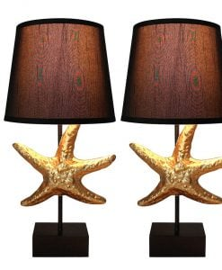Urbanest Black Gold Starfish Table Lamps