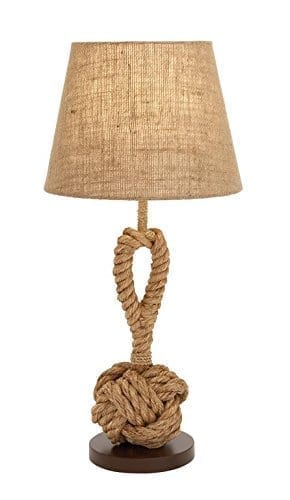 Metal Natural Looking Rope Table Lamp
