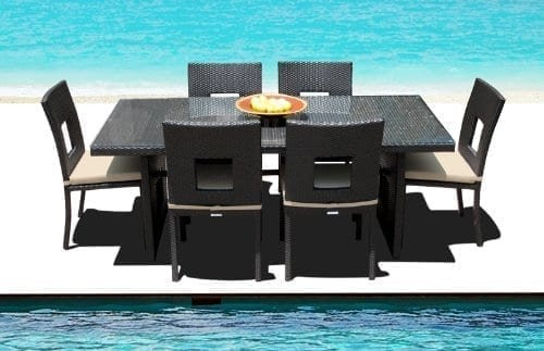 15-outdoor-brown-wicker-patio-dining-set Best Outdoor Wicker Patio Furniture