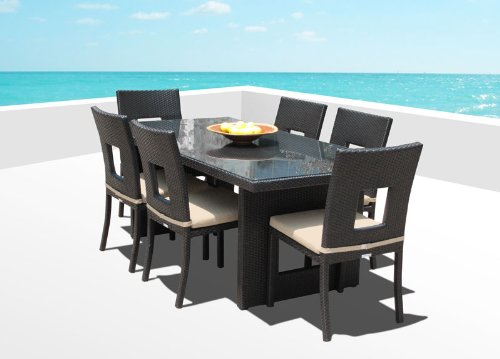 15b-outdoor-brown-wicker-patio-dining-set Best Outdoor Wicker Patio Furniture