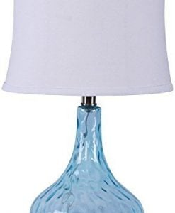 Waterstone Blue Bubble Glass Table Lamp