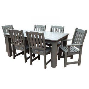 Highwood 7-PC Coastal Teak Dining Set