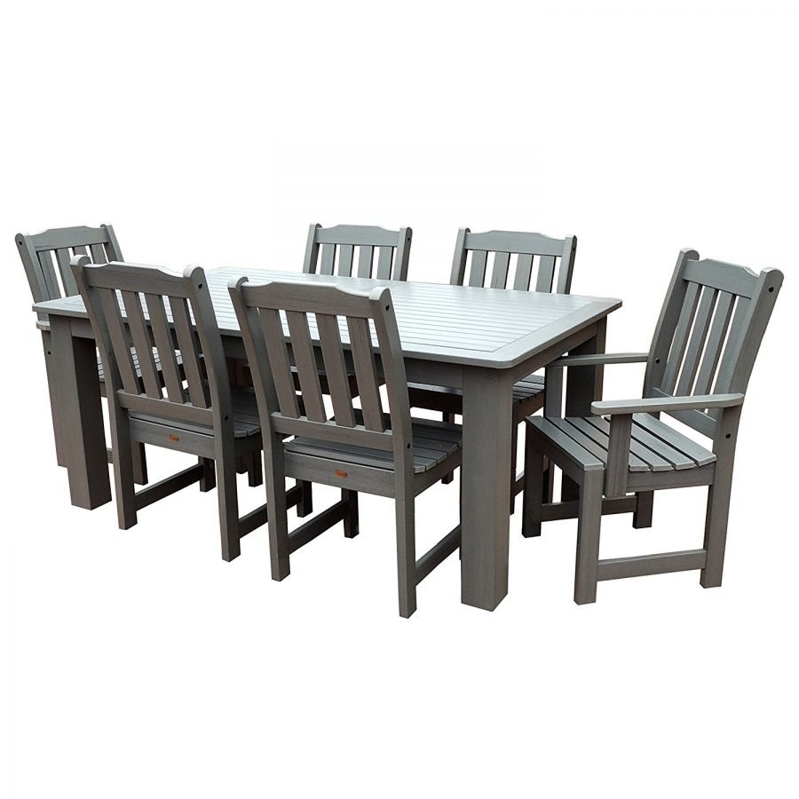Highwood 7 pc coastal teak dining set for Decor 7 piece lunch set