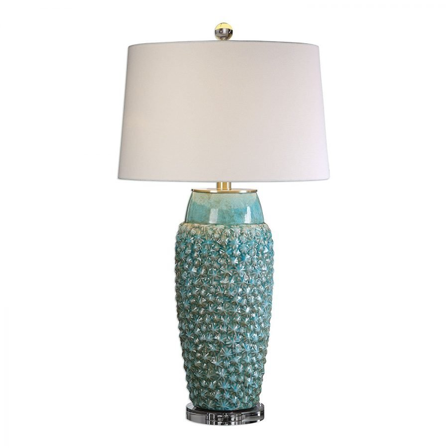 Best beach themed lamps beachfront decor 17 textured turquoise embossed coastal table lamp the best beach aloadofball Images