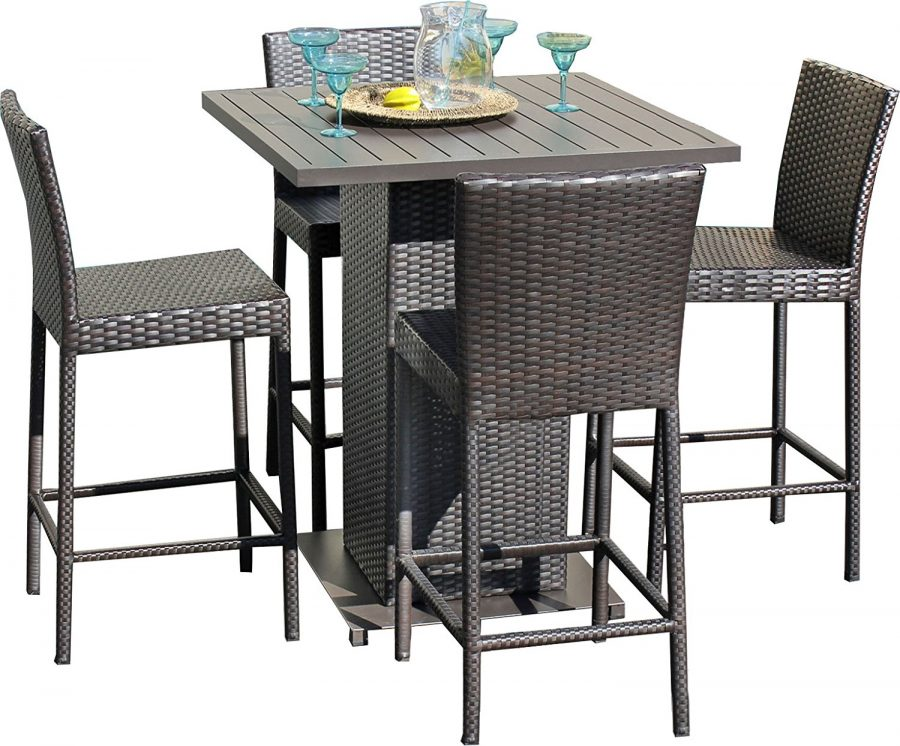 Outdoor wicker patio furniture beachfront decor for High top dinette sets