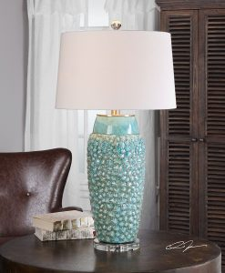 17b-textured-turquoise-embossed-coastal-table-lamp-247x300 The Best Beach Themed Lamps You Can Buy