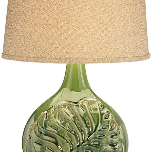 Pacific Coast Green Palm Leave Table Lamp