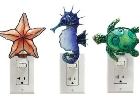 19-coastal-seahorse-turtle-starfish-night-lights-450x333 100+ Coastal Themed Lamps