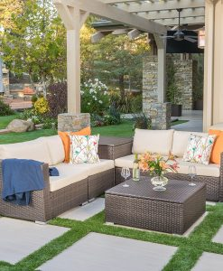 Francisco Outdoor 6PC Wicker Sectional Sofa