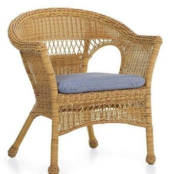 Tan Resin Wicker Chair