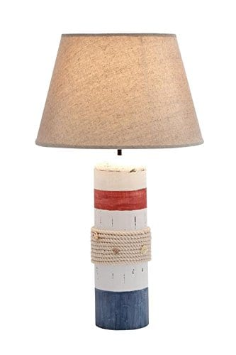 2-deco79-wood-buoy-nautical-table-lamp Nautical Themed Lamps