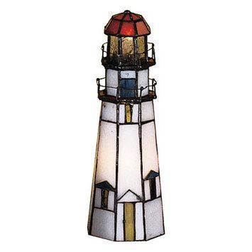 Meyda Tiffany Marble Head Lighthouse Lamp
