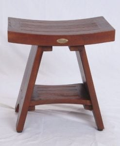 Serenity Teak Asian Style Shower Bench