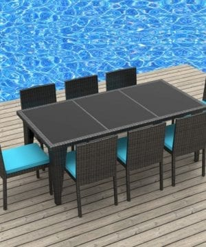 Urban Finishing 9PC Wicker Dining Set