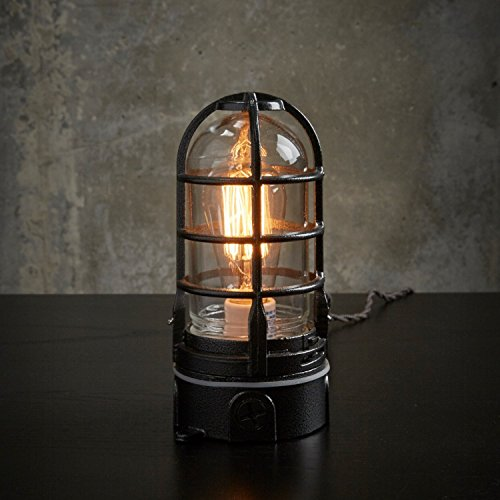 Vapor Touch Nautical Themed Caged Lamp