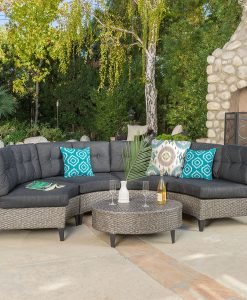 Currituck Outdoor 5PC Rounded Sectional Sofa
