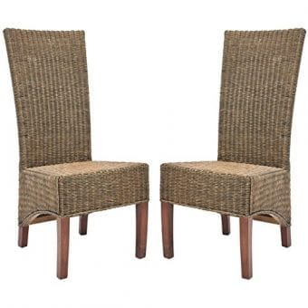 Safavieh Home Honey Brown Wicker Chairs