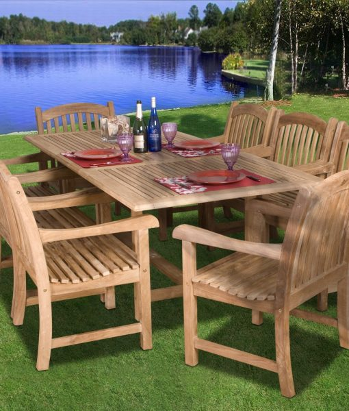 Amazonia Teak Newcastle 9-PC Dining Set