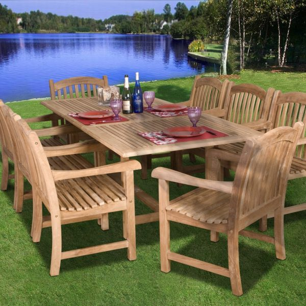Garden Decor Newcastle: Amazonia Teak Newcastle 9-PC Dining Set