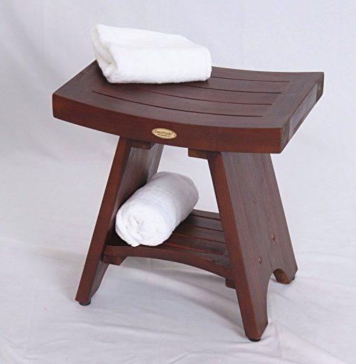 Serenity Teak Asian Style Shower Bench