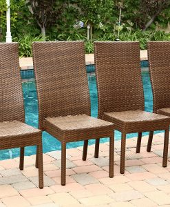 Abbyson Palermo Wicker Dining Chairs (4)
