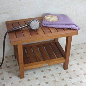 AquaTeak Original Spa Teak Shower Bench