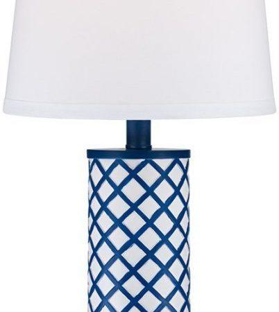 3-gisele-blue-lattice-column-table-lamp-402x450 Coastal Themed Lamps