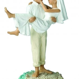 Lillian Rose Just Married Beach Wedding Cake Topper