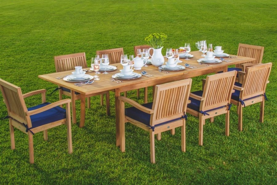 Luxurious pc grade a teak dining set