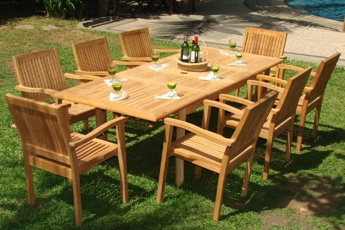 Luxurious 9-PC Grade-A Teak Dining Set
