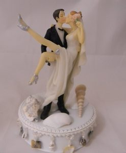 4-Wedding-Beach-Ceremony-Sexy-Cake-Topper-247x300 Beautiful Beach Themed Wedding Cake Toppers