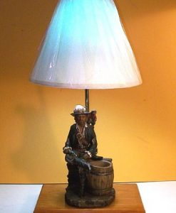 Pirate Captain Nautical Rustic Table Lamp