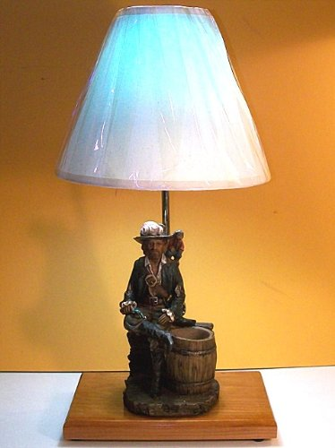 5-pirate-captain-nautical-table-lamp Nautical Themed Lamps