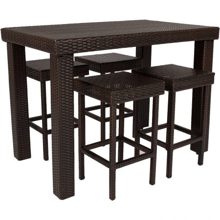 5b-high-top-5pc-wicker-dining-table-set-450x450 Best Outdoor Wicker Patio Furniture