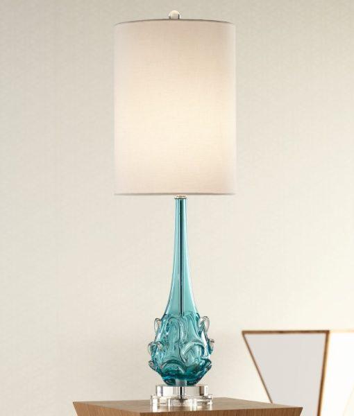 Possini Euro Dinah Glass Bubble Table Lamp