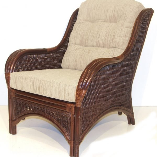 Rattan Cushioned Wicker Chair