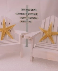 Adirondack Chairs Starfish Beach Wedding Cake Topper